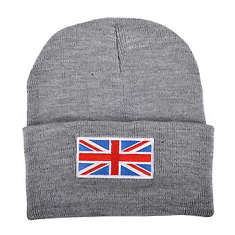 Union Jack Wear Grey Union Jack Flag Beanie Hat