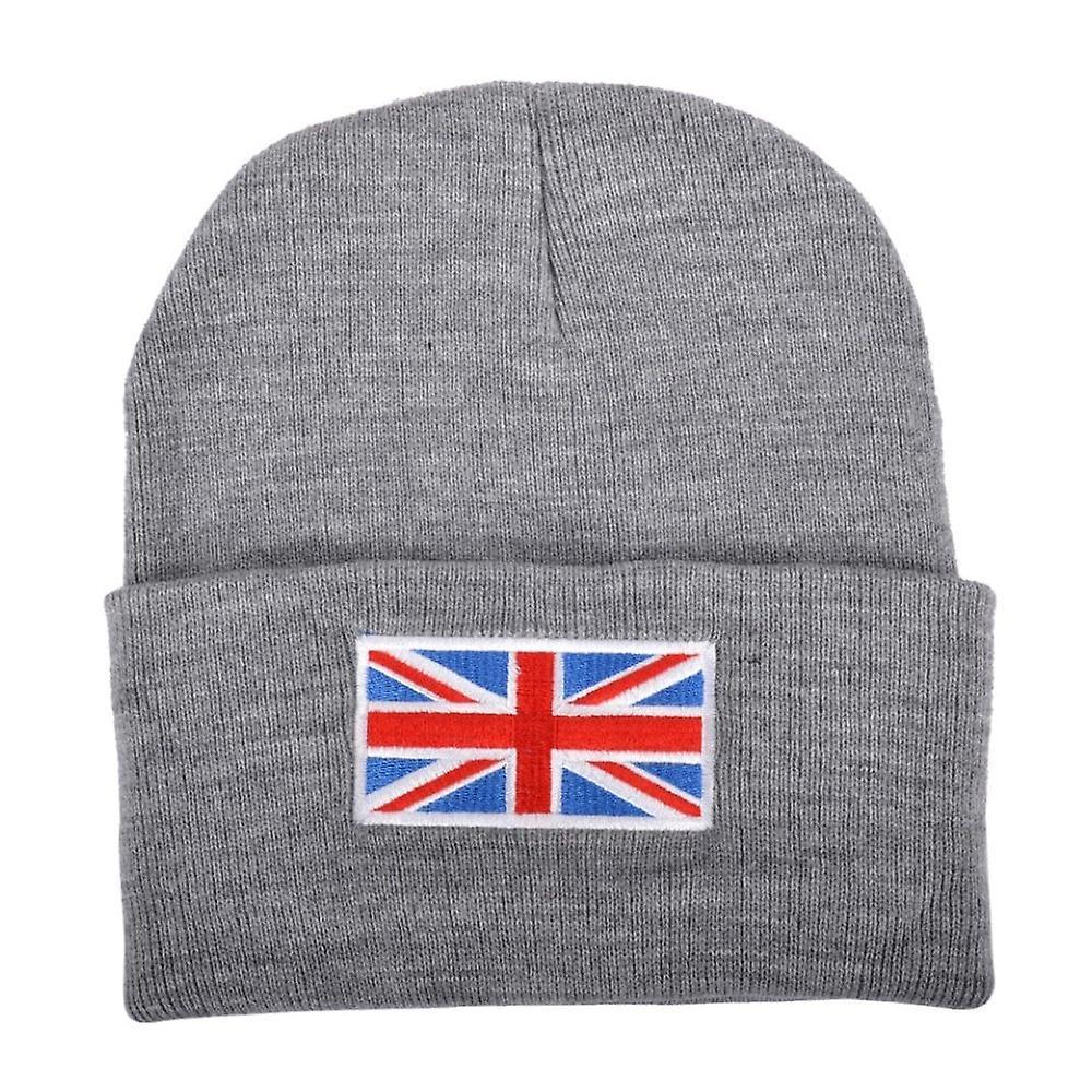 Union Jack Wear Grey Union Jack Flag Beanie Hat