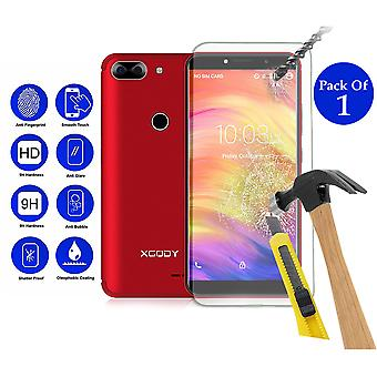 Pack of 1 Tempered Glass Screen Protection For xgody d27 5.5