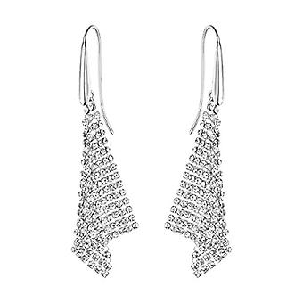 Swarovski Fit Earrings - small - white - rhodio plating