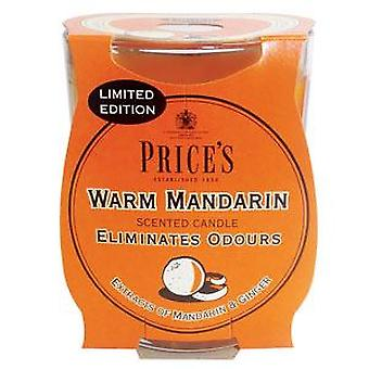 Warm Mandarin Candle in Glass Jar by Prices