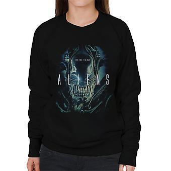 Aliens This Time Its War Women's Sweatshirt