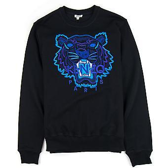 Kenzo glitter Tiger logo Pullover svart/lilla