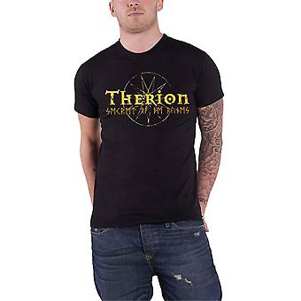 Therion T Shirt Secret Of The Ruins Band Logo new Official Mens Black
