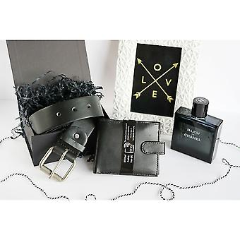 BL031 Adjustable Belt Set RFID Wallet Gift Box