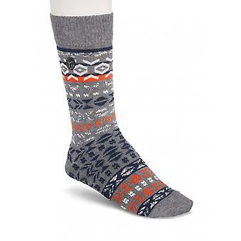 Birkenstock Herre bomuld jacquard sokker 1015073 grå melange