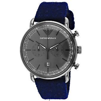 Armani Men-apos;s Aviator Grey Dial Watch - AR11144