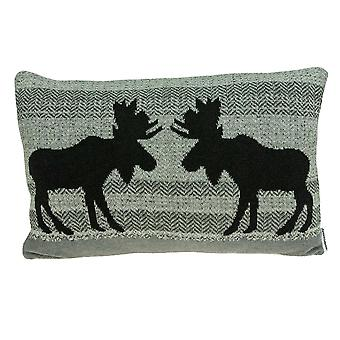 "24"" x 5"" x 16"" Lodge Gray Pillow Cover With Down Insert"