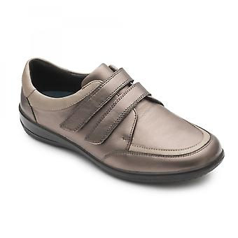 Padders Caitlin Ladies Leather Extra Wide (2e/3e) Shoes Bronze