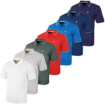 Island Green Mens Solid Chest Logo Performance Golf Polo Shirt