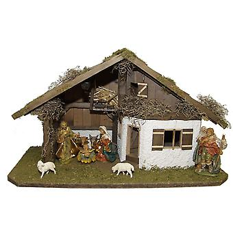 Crib wooden crib Christmas crib Christmas nativity scene Christmas decoration