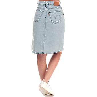 Womens Levi's A-Line Midi Button Skirt In Springtime Light