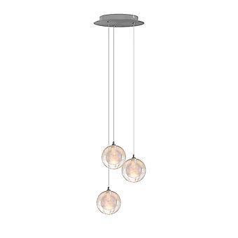 Modern  Ceiling Canopy Round Clean Glass Mirror Light 3 Pendant Living Room Light New