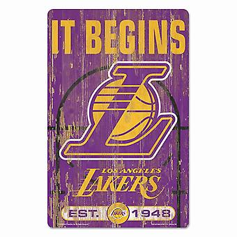 Wincraft NBA Holzschild SLOGAN Los Angeles Lakers 43x28cm