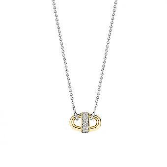 Necklace and pendant Ti Sento 3911ZY - necklace and pendant silver carabiner Bi colors Dor and bar e Pav