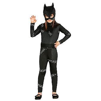 Meisjes Catwoman superheld Fancy Dress kostuum