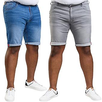 Duke D555 Homme Big Tall King Size Stretch Denim Casual Summer Shorts Bottoms