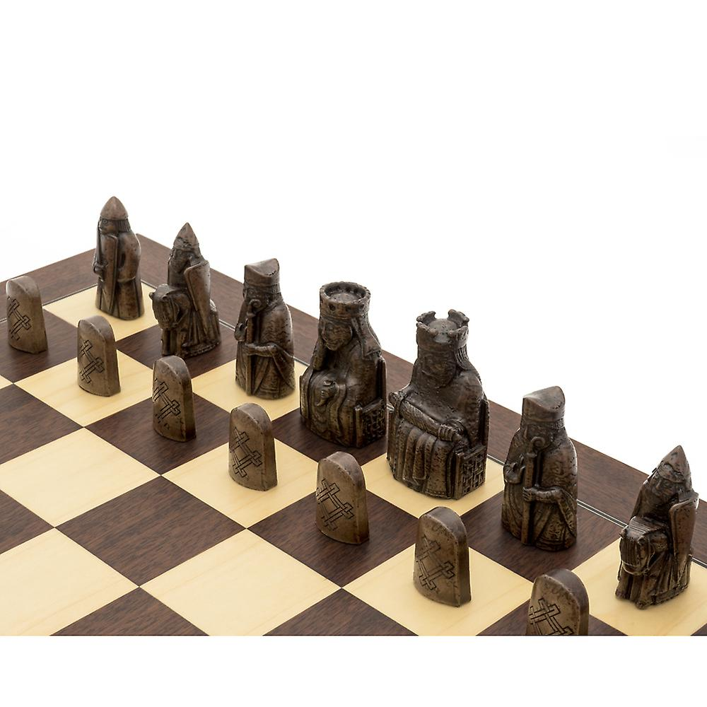 The Isle of Lewis Montgoy Palisander Grand Chess Set