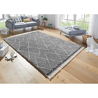 Design High Flor Rug Jade Dark Grey Cream