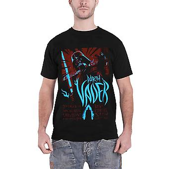 Official Mens Star Wars T Shirt Darth Vader Rock Poster Sith Lord Logo New Black