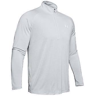 Under Armour Tech 2.0 1/2 Zip Mens Long Sleeve Training Top Halo Grey