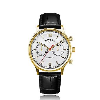 Rotary GS05206-70 Relógio de pulso do croógrafo do Tom de Ouro