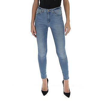 Pinko 1j10dzy5x8g58 Women's Blue Cotton Jeans