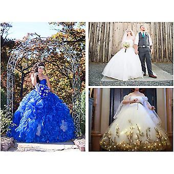 MISSYDRESS Full A-line 6 Hoop Floor-length Bridal Dress, White, Size Free Size