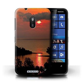 STUFF4 Case/Cover for Nokia Lumia 620/Red Sun/Sunset Scenery