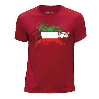 STUFF4 Boy's ronde hals T-T-shirt/Koeweit vlag Splat/rood