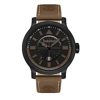 Timberland Watches Tbl.16006jyb/02 Woodmont Black & Brown Leather Men's Watch Woodmont Black & Brown Leather Men's Watch