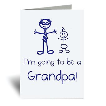 I'm Going To Be A Grandpa A6 Greeting Card