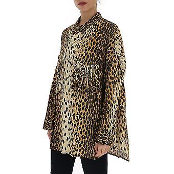 R13 R13w73577 Women's Leopard Cotton Shirt