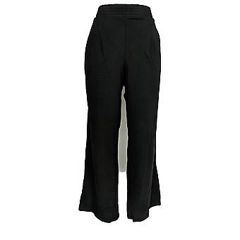 Anybody Women's Pants Cozy Knit Wide Leg Black A347172