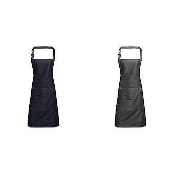 Premier Jeans Stitch Bib Apron (Pack of 2)