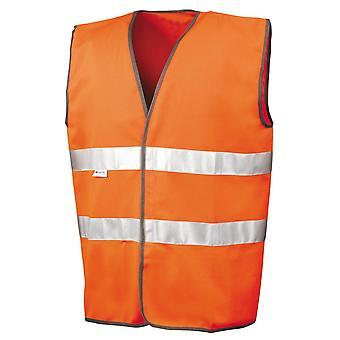 Hi-Vis Warnweste Mens Autofahrer führen / Berufsbekleidung