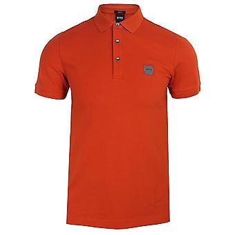 Hugo boss men's orange passenger polo shirt