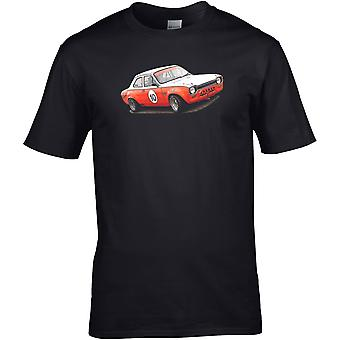 Ford Escort Rally - Auto Motor - DTG Geprint T-shirt