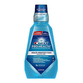 Crest pro-health mouthwash, refreshing clean mint, 33.8 oz