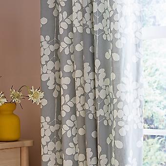 Ginkgo Patchwork Designer Curtains By Clarissa Hulse In Grey