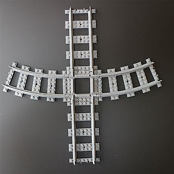 Caterpillar Red  2 x Mini Compatible Custom Cross Track, Straight Cross Tracks Crossover, Compatible with Leading Brand