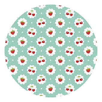 Kids Rug - Red Fruit - Washable - Circle 150 cm
