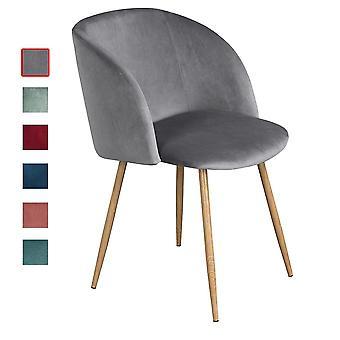 Wood4you - Samtgrauer Essstuhl - Pariso - Low - Sitzhöhe: 41 cm - 2 Stück
