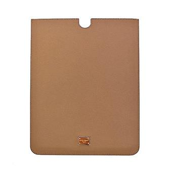 Beige leather ipad tablet ebook cover