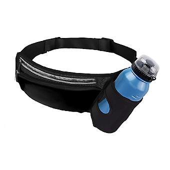 Waist bag with bottle holder and mobile compartment