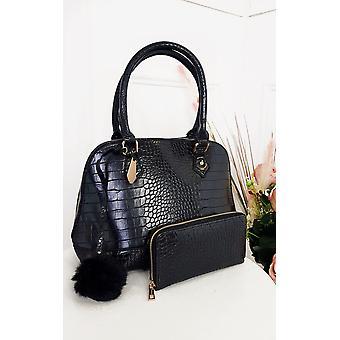 IKRUSH Womens Remi Croc Print Handbag