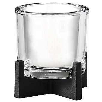 Blomus lantaarn NERO staal poedercoating in combinatie met glas