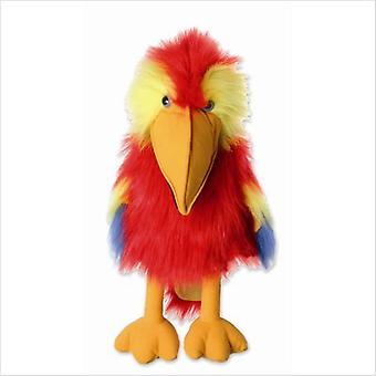 Il burattino di compagnia burattini grande uccello Ara scarlatta