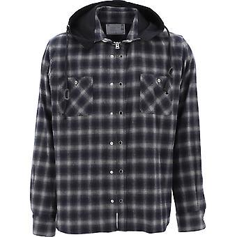 Sacai 02238mblk Men's Black Cotton Outerwear Jacket