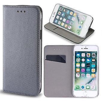 Samsung Galaxy S9 Plus - Smart Magnet Mobile Wallet - Sølvgrå